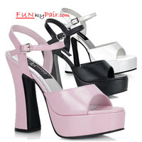 DOLLY-09, 5 Inch High Heel with 3/4 Inch Platform Chunky Heel Sandal