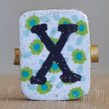 """X""  Gypsy  Girl  Letter  Magnet  From  Natural  Life"