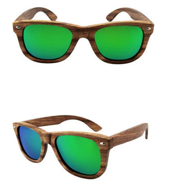 handmade brazil wood sunglasses + bamboo box gift 36
