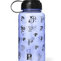 Victoria's Secret PINK Water Bottle Monogram Icy Lavender, 32. oz Pull Top, NEW!
