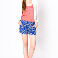 Ikat Scalloped Shorts