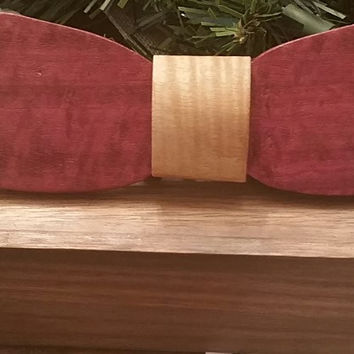 The Limited Edition Purple Heart Wooden Bow Tie