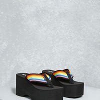 Rocket Dog Rainbow Platform Sandals