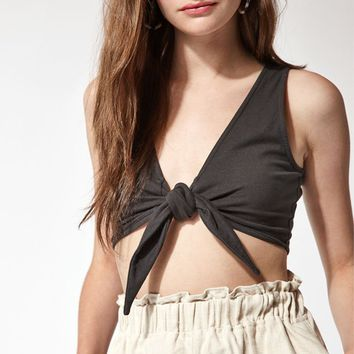 LA Hearts Tie Front Top at PacSun.com