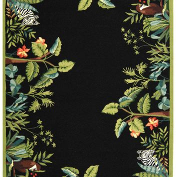 Chelsea Transitional Indoor Area Rug Black / Green