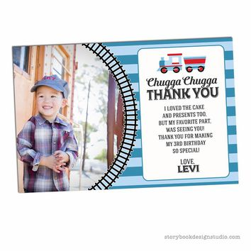 Train Birthday Party Thank You Cards