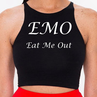 EMO eat me out Crop Top S-L
