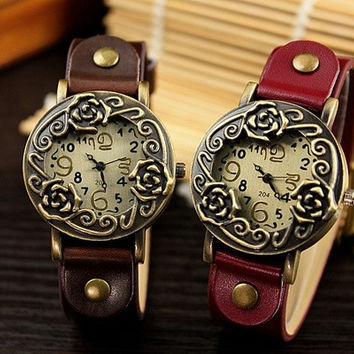 204 vintage antique rose quartz electronic high-grade watch classic Korean fashion fashion = 1956782788