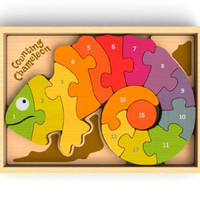 Begin Again Toys Counting Chameleon Puzzle