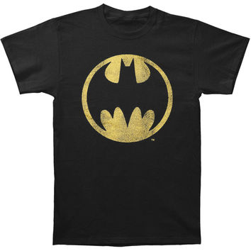 Batman Men's  Logo T-shirt Black Rockabilia