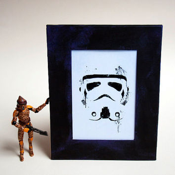 Star Wars framed print Trooper by purplecactusdesign on Etsy