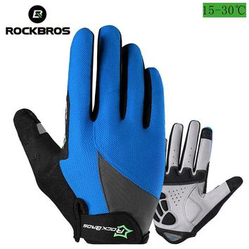 ROCKBROS Bike Gloves Mountain Road Racing Bicycle Gloves Breathable Touch Screen Full Finger Cycling Men Women Work Gloves