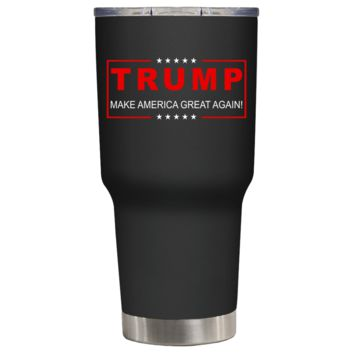 Trump Make America Great Again on Black 30 oz Tumbler