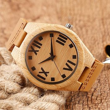 Men Genuine Leather Strap Watch Women