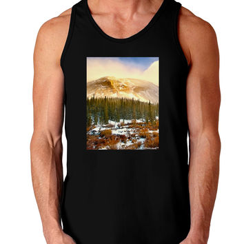 Nature Photography - Mountain Glow Dark Loose Tank Top by
