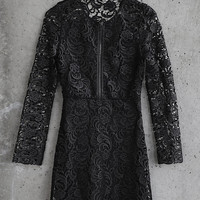 Black Coated Lace Express Edition Dress from EXPRESS