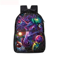 Cartoon SchoolbagsChildren School Bags   Galaxy Unicorn Backpack For Teenage Girls Boys Kawaii Kids Book Backpack Best Gift