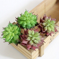 Land Lotus Succulent Grass Desert Artificial Plant Fake Flower Garden Decor TB