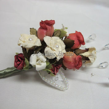 Boutonniere/Corsage, 4 Red boutonnieres