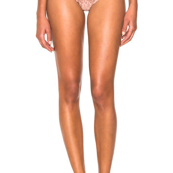 fleur du mal Charlotte Lace Cheeky Bottom in Tan | FWRD