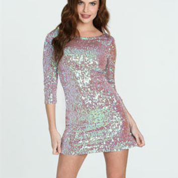 Iridescent Sequin Mini Dress | Shop SALE at Arden B