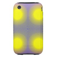 Geometric Abstract Pink Purple Yellow Tough iPhone 3 Case