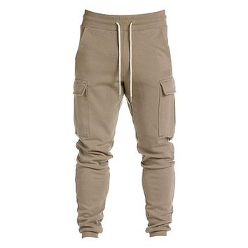 Solid Color Men's Jogger Sweatpants by Podom