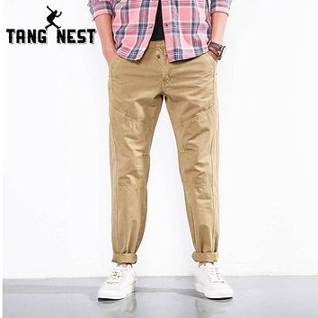 Men Washed Cargo Pants Men Cargo Pants Outdoor Casual Loose Suitable Trousers 5 Colors
