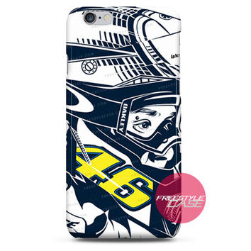 Valentino Rossi Enduranch Helmet iPhone Case 3, 4, 5, 6 Cover