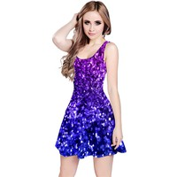 Midnight Glitter Reversible Sleeveless Dresses