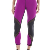 Hydra Crop Magenta Leggings | Designer Leggings - Purple