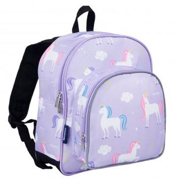 Monogram Backpack and Lunch Bag - Wildkin - Unicorn - Preschool | Day Pack | Back to School | Day Care | Diaper Bag | Kindergarten