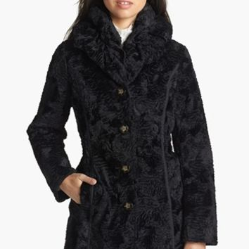 Laundry by Shelli Segal Reversible Faux Persian Lamb Fur Coat | Nordstrom