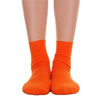 Solid Ankle Socks - Orange
