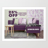 Promo 25% OFF Everything Nov 5 & Nov 6 Art Print by Lena Photo Art