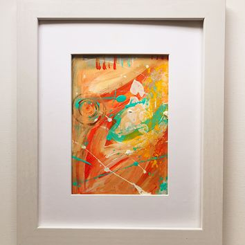 008 Original Abstract  Art on Paper. Free-shipping within USA.