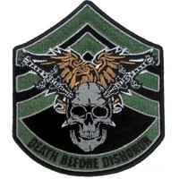 Death Before Dishonor Small Skull Swords Patch