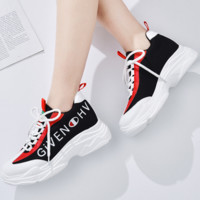 Givenchy & Champion joint models 2018 summer new breathable mesh flat casual wild running shoes F0316-1 black