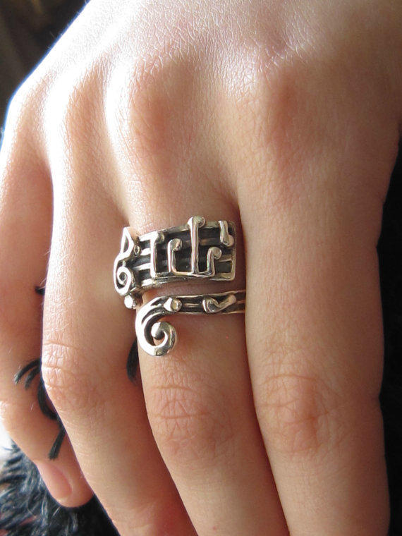 $52.00 Lullaby Ring Solid Sterling (Free Shipping) by TwilightEyesStudio