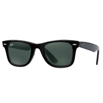 Ray-Ban Men's Wayfarer Injected Sunglasses, Black