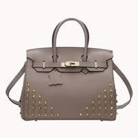 Jane Bag Small Punk Studs Grey