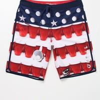 O'Neill Beer Pong Scallop Boardshorts - Mens Board Shorts - Red