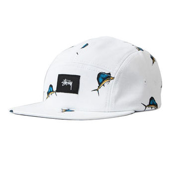Stussy: Big Catch Camp Cap - White