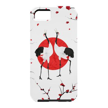 Belle13 Love Dance Of Japanese Cranes Cell Phone Case