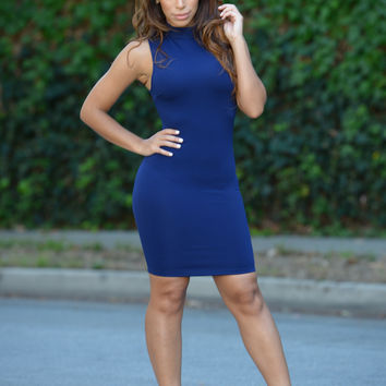 Gianna Dress - Navy