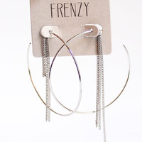 Frenzy Hoop Earrings (Silver)