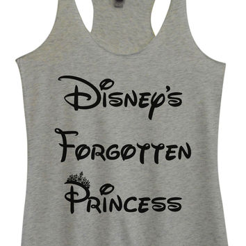 Womens Fashion Triblend Tank Top - Disney's Forgotten Princess - Tri-804