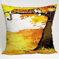 Calvin and Hobbes Best Friend in the Tree Pillow Case (16x16 one side)
