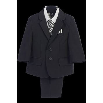 Dark Gray 5-pc Boys Husky Two Button Suit with Vest 8H-20H
