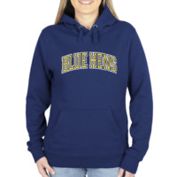 Delaware Fightin' Blue Hens Ladies Secondary Traditional Arch Pullover Hoodie - Royal Blue